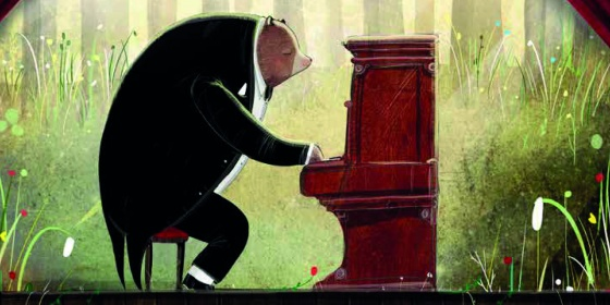 David Litchfield The Bear and the Piano Book Cover