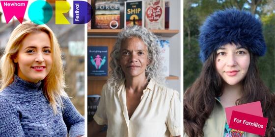 Kiran Millwood Hargrave, Catherine Doyle, Catherine Johnson panel